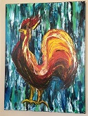 Ali Painting - Rooster - thumbnail